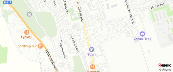 Улица Сальмана на карте Дербента с номерами домов