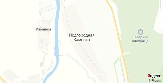 Карта села Подгородная Каменка в Ульяновске с улицами, домами и почтовыми отделениями со спутника онлайн