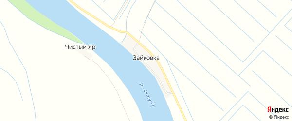 Карта поселка Зайковки в Астраханской области с улицами и номерами домов