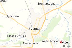 Карта г. Буинск Республика Татарстан