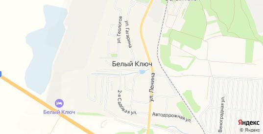 Карта села Белый Ключ в Ульяновске с улицами, домами и почтовыми отделениями со спутника онлайн