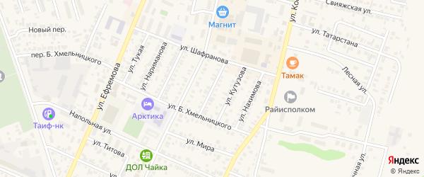 Улица Суворова на карте Буинска с номерами домов