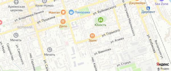 Улица Карла Маркса на карте Дербента с номерами домов