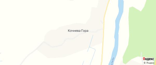 Карта деревни Кочневы Горы в Архангельской области с улицами и номерами домов