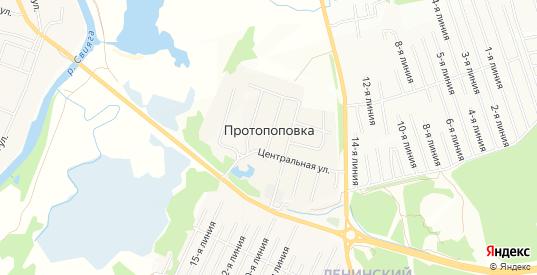 Карта деревни Протопоповка в Ульяновске с улицами, домами и почтовыми отделениями со спутника онлайн