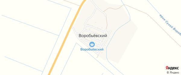 Улица Мира на карте Воробьевского поселка Астраханской области с номерами домов