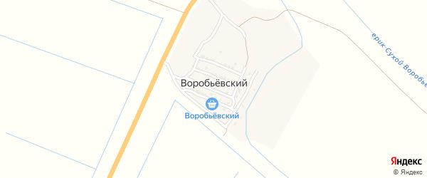 Юбилейная улица на карте Воробьевского поселка Астраханской области с номерами домов