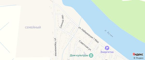 Тихий переулок на карте села Забузана Астраханской области с номерами домов