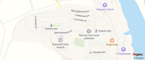 Улица Ленина на карте села Каралат Астраханской области с номерами домов