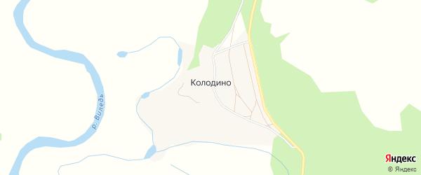 Карта деревни Колодино в Архангельской области с улицами и номерами домов