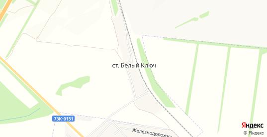 Карта станции Белый Ключ в Ульяновске с улицами, домами и почтовыми отделениями со спутника онлайн