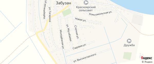 Степная улица на карте села Забузана с номерами домов