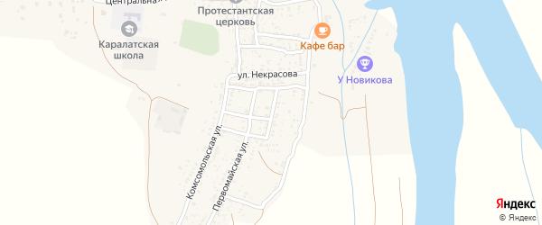 Улица Пушкина на карте села Каралат Астраханской области с номерами домов