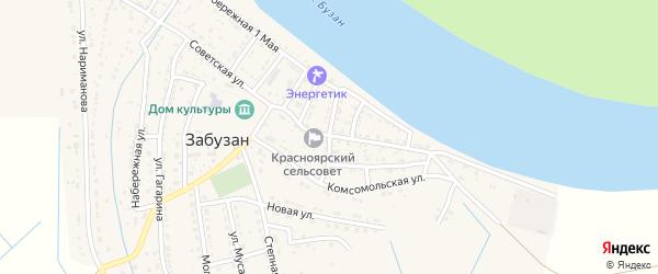 Улица 8 Марта на карте села Забузана Астраханской области с номерами домов