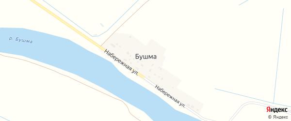 Рычинская улица на карте поселка Бушма Астраханской области с номерами домов