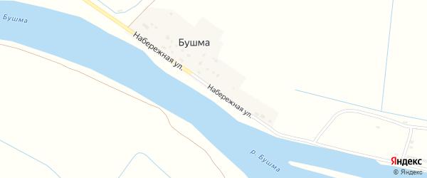Набережная улица на карте поселка Бушма с номерами домов