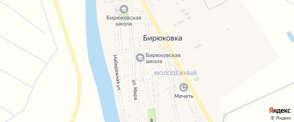 Советская улица на карте села Бирюковки Астраханской области с номерами домов