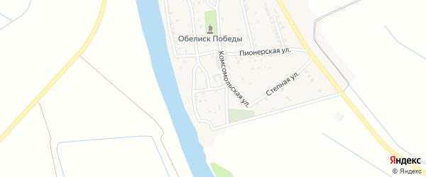 Школьная улица на карте села Бирюковки Астраханской области с номерами домов