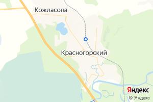 Карта пос. Красногорский Республика Марий Эл