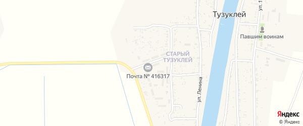 Улица Свердлова на карте села Тузуклей Астраханской области с номерами домов