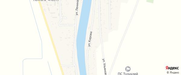 Улица Кирова на карте села Тузуклей Астраханской области с номерами домов