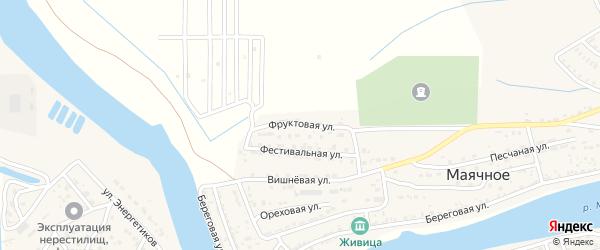Фруктовая улица на карте Маячного села Астраханской области с номерами домов