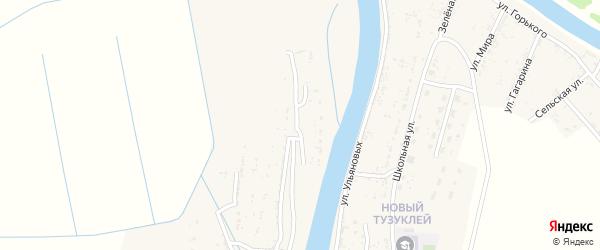 Садовая улица на карте села Тузуклей с номерами домов