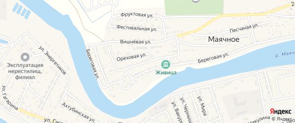 Улица Механизаторов на карте Маячного села Астраханской области с номерами домов