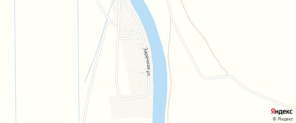 Заречная улица на карте села Тузуклей с номерами домов