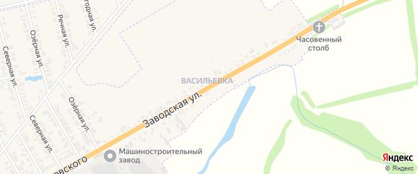 Заводская улица на карте Буинска с номерами домов
