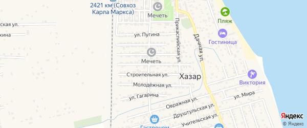 Южная улица на карте села Хазара с номерами домов