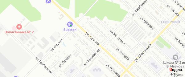 Улица Орлова на карте Волжска с номерами домов