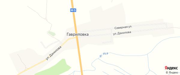 Карта села Гавриловки в Ульяновской области с улицами и номерами домов