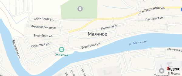 Рыбацкий переулок на карте Маячного села Астраханской области с номерами домов