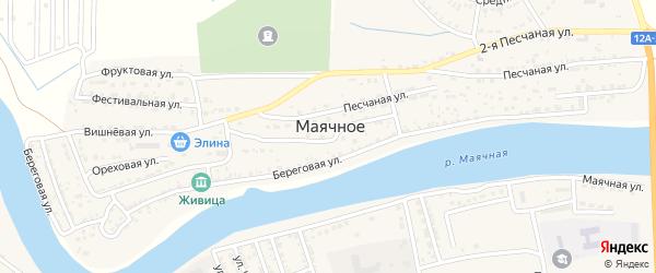 Славянская улица на карте Маячного села Астраханской области с номерами домов