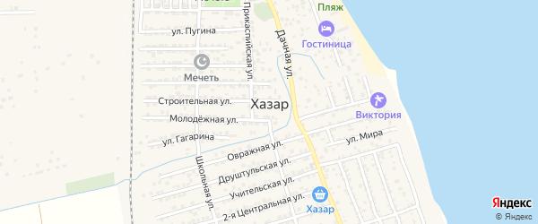 Параллельная 1-я улица на карте села Хазара с номерами домов