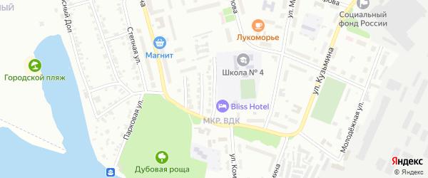 Учительская улица на карте Волжска с номерами домов