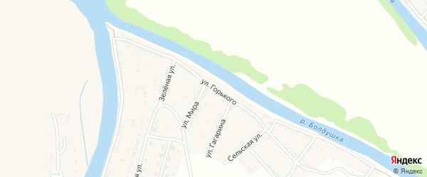 Улица Горького на карте села Тузуклей с номерами домов