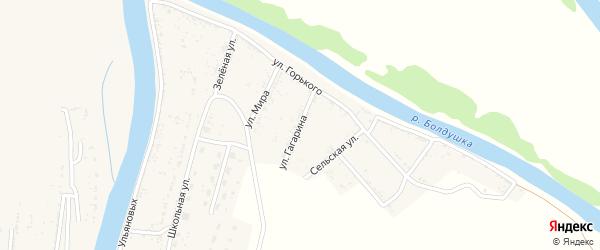 Улица Гагарина на карте села Тузуклей Астраханской области с номерами домов