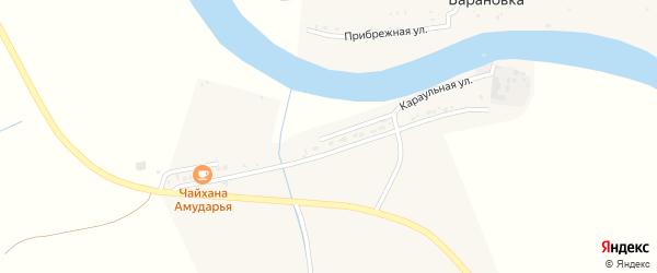 Караульная улица на карте Маячного села Астраханской области с номерами домов