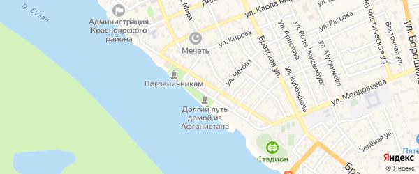 Улица Максима Горького на карте села Красного Яра с номерами домов