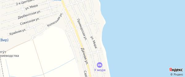 Улица Мира на карте села Хазара Дагестана с номерами домов