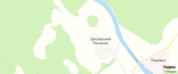 Карта деревни Шиловского Починка в Архангельской области с улицами и номерами домов