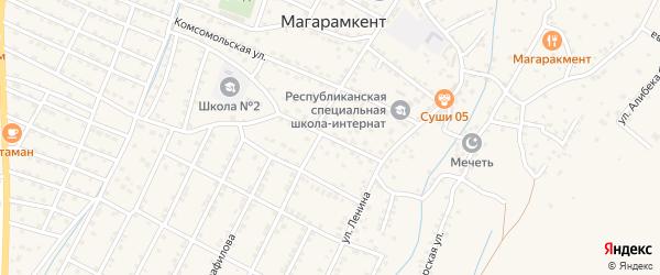 Улица Агасиева на карте села Магарамкента Дагестана с номерами домов