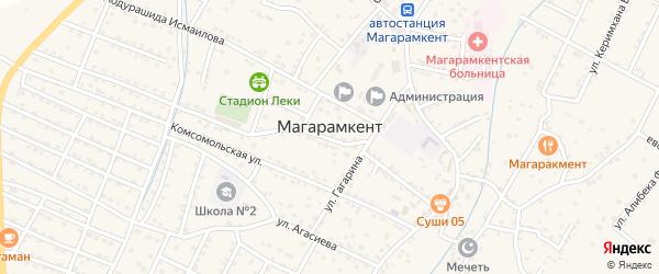 Улица Етима Эмина на карте села Магарамкента Дагестана с номерами домов