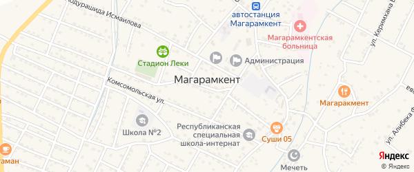 Садовая улица на карте села Магарамкента Дагестана с номерами домов