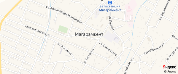 Аэродромная улица на карте села Магарамкента Дагестана с номерами домов