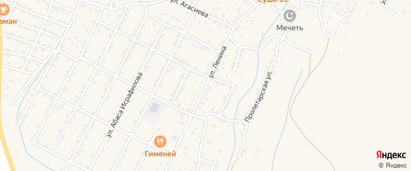 Тупик Ленина на карте села Магарамкента Дагестана с номерами домов