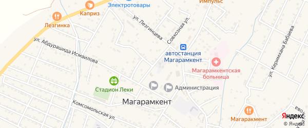 Улица Кадира Рамазанова на карте села Магарамкента Дагестана с номерами домов