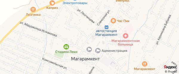 Улица Гасанбега Рамазанова на карте села Магарамкента Дагестана с номерами домов